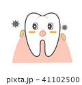 歯周病と歯茎の炎症 食べかすと歯 キャラクター 41102500