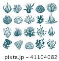 珊瑚 海藻 ベクターのイラスト 41104082