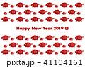 ベクター 2019年 亥年のイラスト 41104161