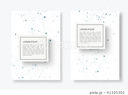 abstract connect background with connected lines and dots modern