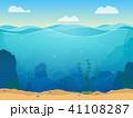 ベクトル 水中 海のイラスト 41108287