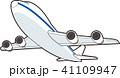 飛行機 ジャンボジェット 旅客機のイラスト 41109947
