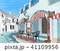 水彩画「志摩地中海村」 41109956