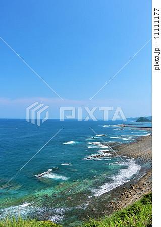 宮崎県 青空と青い海 41111177