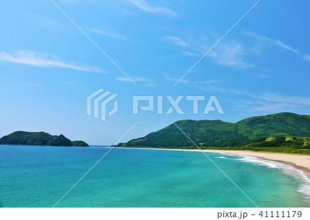 宮崎県 爽やかな青空と青い海 41111179