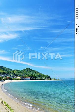 福岡県 青空の青い海 41111186