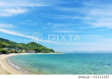 福岡県 青空の青い海 41111187