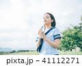 女子高生 高校生 水の写真 41112271
