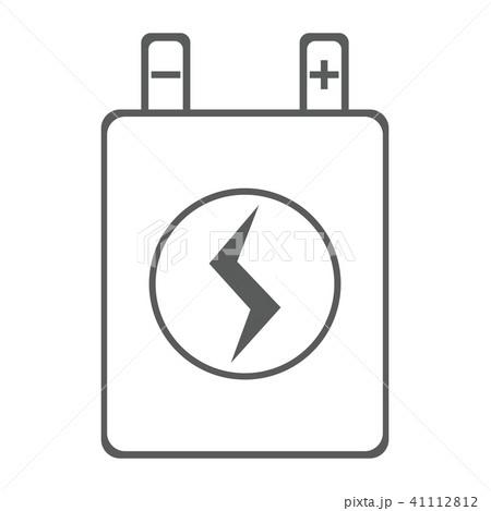 バッテリー 蓄電 イラスト アイコン 41112812