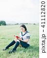高校生 読書 本の写真 41112820