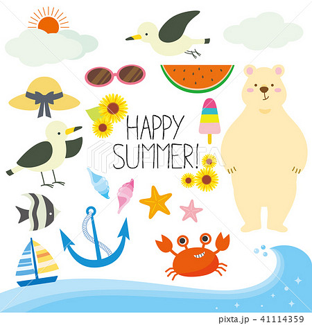 Happy summer illustration 41114359