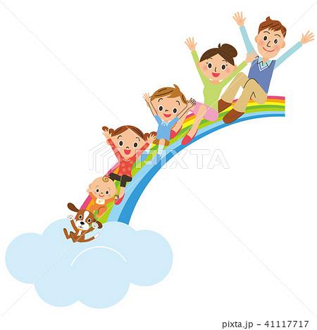 虹に座る家族 41117717