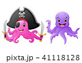 Set of octopus cartoons  41118128