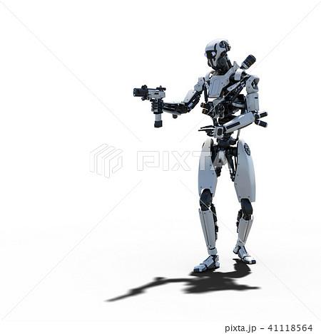 人型ロボット perming3DCGイラスト素材 41118564
