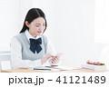 高校生 勉強 女の子の写真 41121489