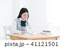 勉強 女性 学生の写真 41121501