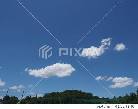 緑と青空と白い雲 41124240