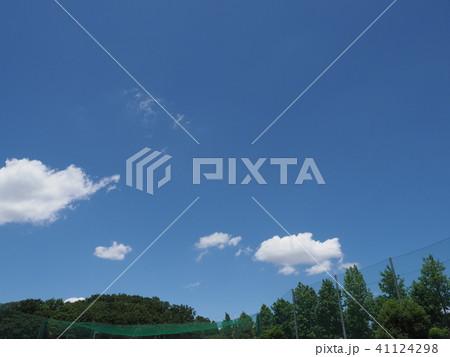 緑と青空と白い雲 41124298