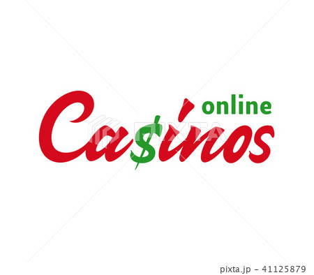 Casino vector text sign 41125879