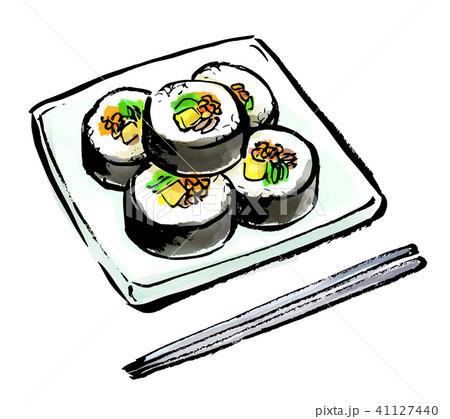 筆描き 食品 キンパ 41127440
