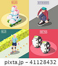 Roller And Skateboarders 2x2 Design Concept 41128432
