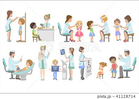 kids on medical examinationのイラスト素材 41128714 pixta
