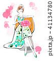 女性 ファッション おしゃれのイラスト 41134780