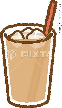 アイスミルクティーストロー 赤のイラスト素材 41134871 Pixta