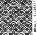 青海波 和柄 模様のイラスト 41136827