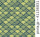青海波 和柄 模様のイラスト 41136831