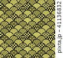 青海波 和柄 模様のイラスト 41136832