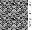 青海波 和柄 模様のイラスト 41136835
