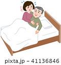 介護 寝たきり 白バックのイラスト 41136846