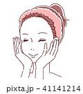 女性 ビューティー スキンケアのイラスト 41141214