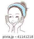女性 ビューティー スキンケアのイラスト 41141218