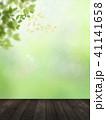背景-新緑-ウッドデッキ 41141658