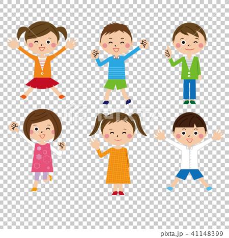 ポップな子供6人の男の子と女の子 41148399