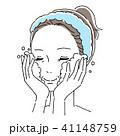 女性 ビューティー スキンケアのイラスト 41148759