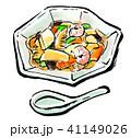 白背景 筆描き 食べ物のイラスト 41149026
