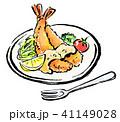 白背景 筆描き 食べ物のイラスト 41149028