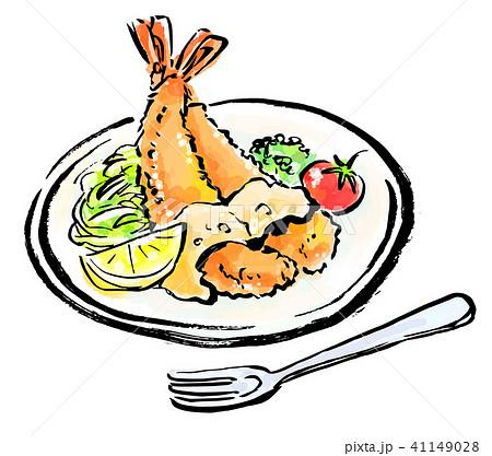 筆描き 食品 海老フライ 41149028