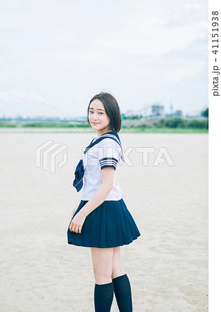 笑顔のかわいい女子高生  41151938
