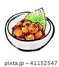 白背景 筆描き 食べ物のイラスト 41152547