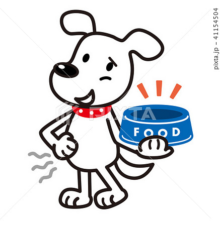 犬 白犬 餌入れ  41154504