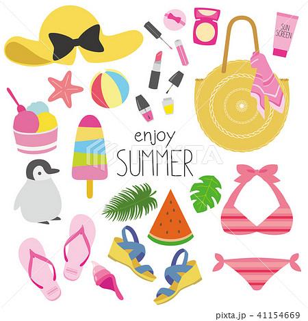 夏のファッションイラスト 41154669