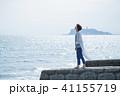 女性 海 歩くの写真 41155719
