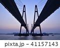 名港西大橋と日の出 41157143