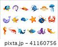 Colorful Sea Animals Set 41160756