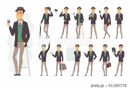 Stylish man - vector cartoon people character set 41160776