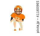 ヘルメット かぶと アメリカンフットボールのイラスト 41160965